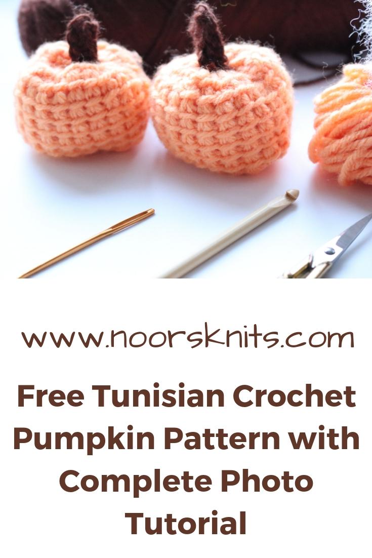 Crochet pumpkin with a Tunisian crochet pattern!