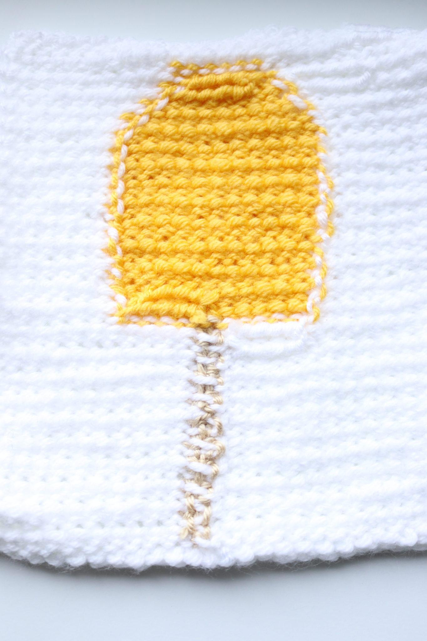 Tunisian Crochet Baby Blanket Square