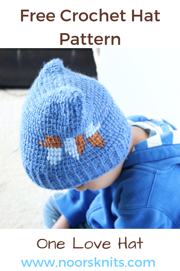 Looking for a free crochet hat pattern? Here's a unique design I've created in honor of the Hat Not Hate campaign by Lion Brand in child to adult sizes.