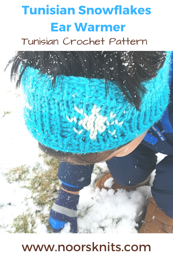 Are you looking for an easy crochet pattern? You're in the right place! This Tunisian Snowflakes Ear Warmer is a great winter Tunisian crochet project!