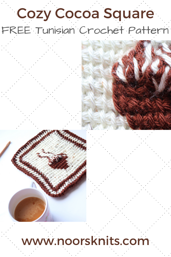 This cozy Tunisian crochet pattern is perfect for some winter crochet! This crochet square pattern has video tutorials linked and a color chart PDF option!