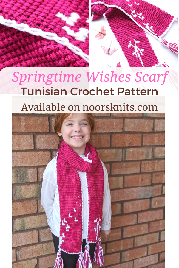 Are you looking for a spring crochet scarf pattern? You are in the right place! This Springtime Wishes Scarf design is inspired by a childhood memory.
