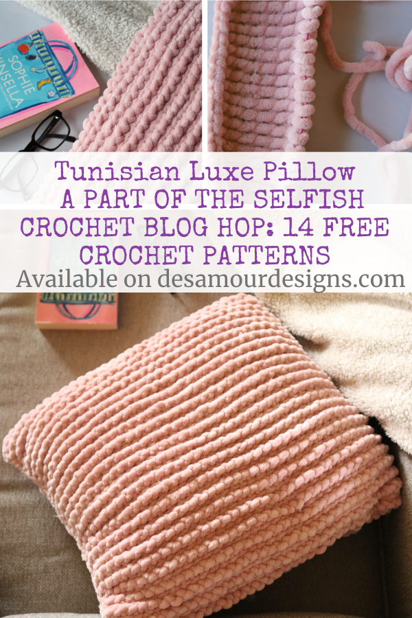 If you're looking for a crochet pillow pattern easy level, you're in the right place! This Tunisian  Luxe Pillow is great for any room and works up quick!