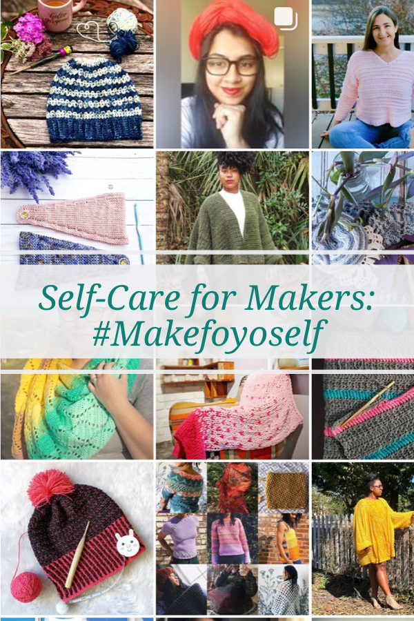 Have you felt burnt out from making things for your knitting or crochet business or for others? Here I share some great tips on self-care for makers.
