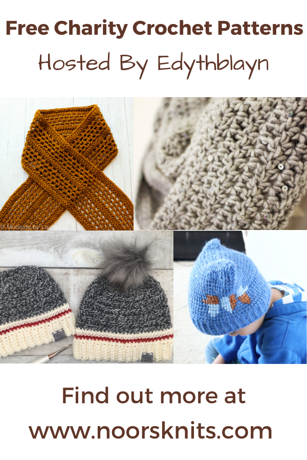 Looking for crochet hat and scarf patterns for donation? Check out this crochet for a cause 2020 event hosted by Edythblayn! Get free patterns every Monday!