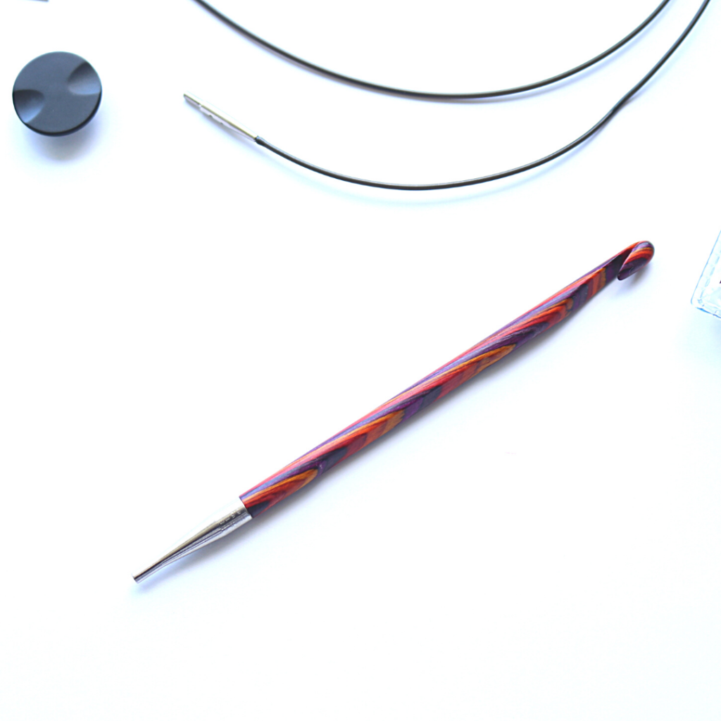 Check out the review of the Knit Picks Radiant Interchangeable Crochet Hook Set - portable, affordable, and perfect for your next project!