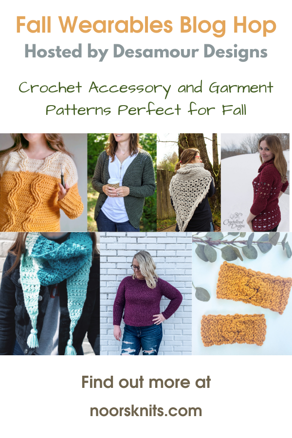 Fall crochet wearables, nineteen cozy crochet patterns perfect for your Fall wardrobe from shawls and triangle scarves to cozy sweaters!