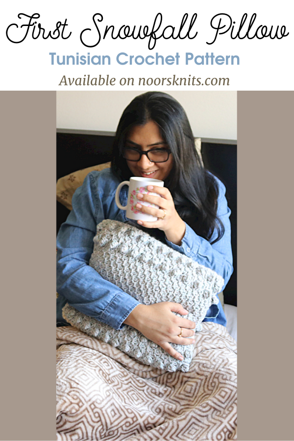 Check out this super cozy Tunisian crochet pillow pattern along with a crochet coaster pattern and find out how to get 36+ free patterns!