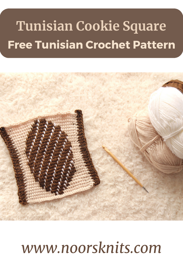 Check out this holiday Tunisian crochet square pattern. Enjoy the free Tunisian crochet pattern for this fun colorwork crochet cookie square.