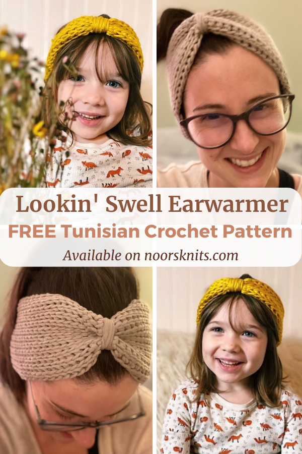 Check out this fun easy Tunisian crochet earwarmer pattern. It's the perfect one-skein one-hour project to practice the Tunisian knit stitch!