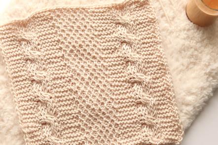 Crochet cable square pattern, free Tunisian crochet pattern.