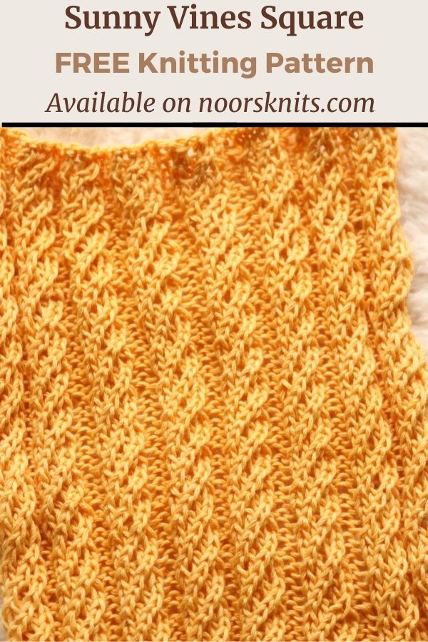 Give this easy cable knit square pattern a try! A mix of knit and purl stitches creates a beautiful texture for a classic knitting pattern!