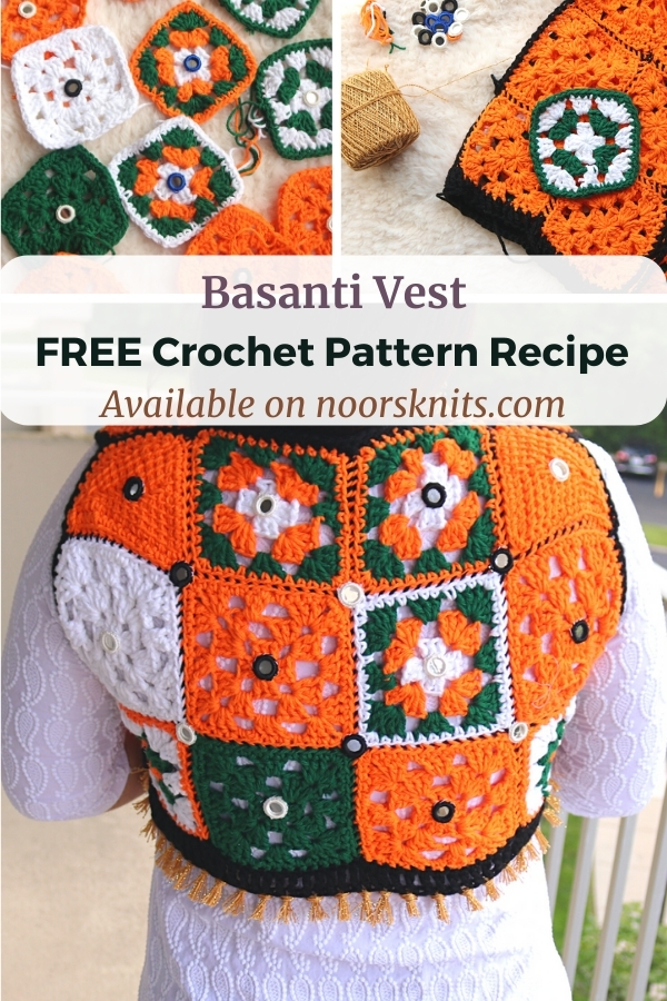 Granny square vest crochet patterns are so fun. Check out this unique granny square vest crochet pattern recipe with custom-fit instructions.